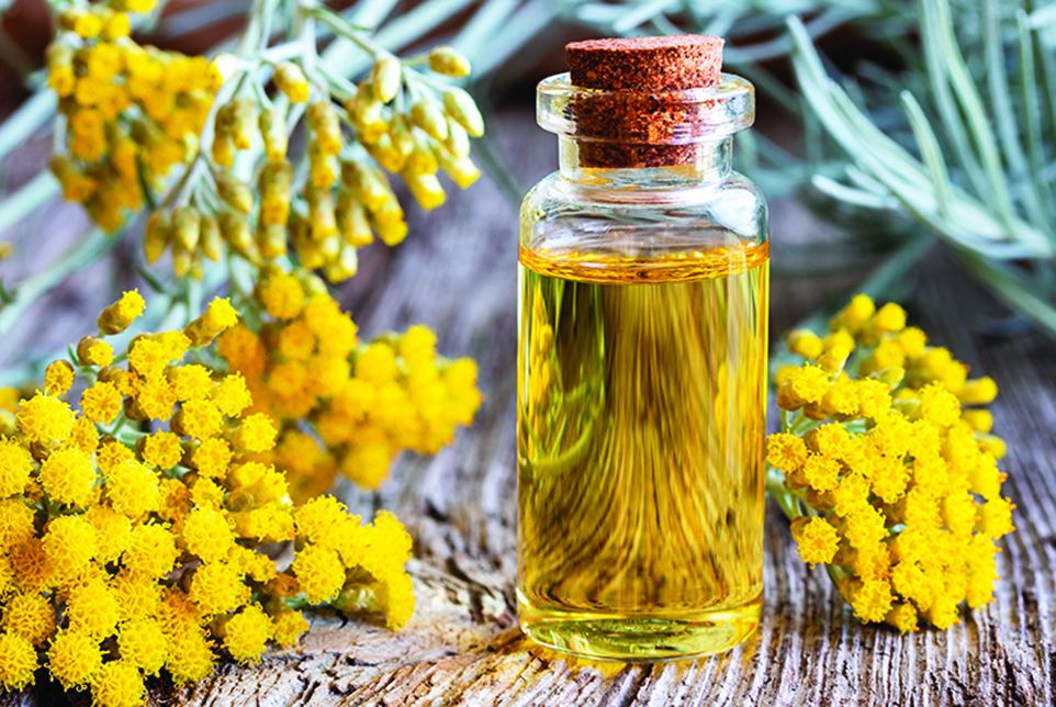 永久花精油有活血化瘀的效果,能抗憂鬱並舒緩情緒。