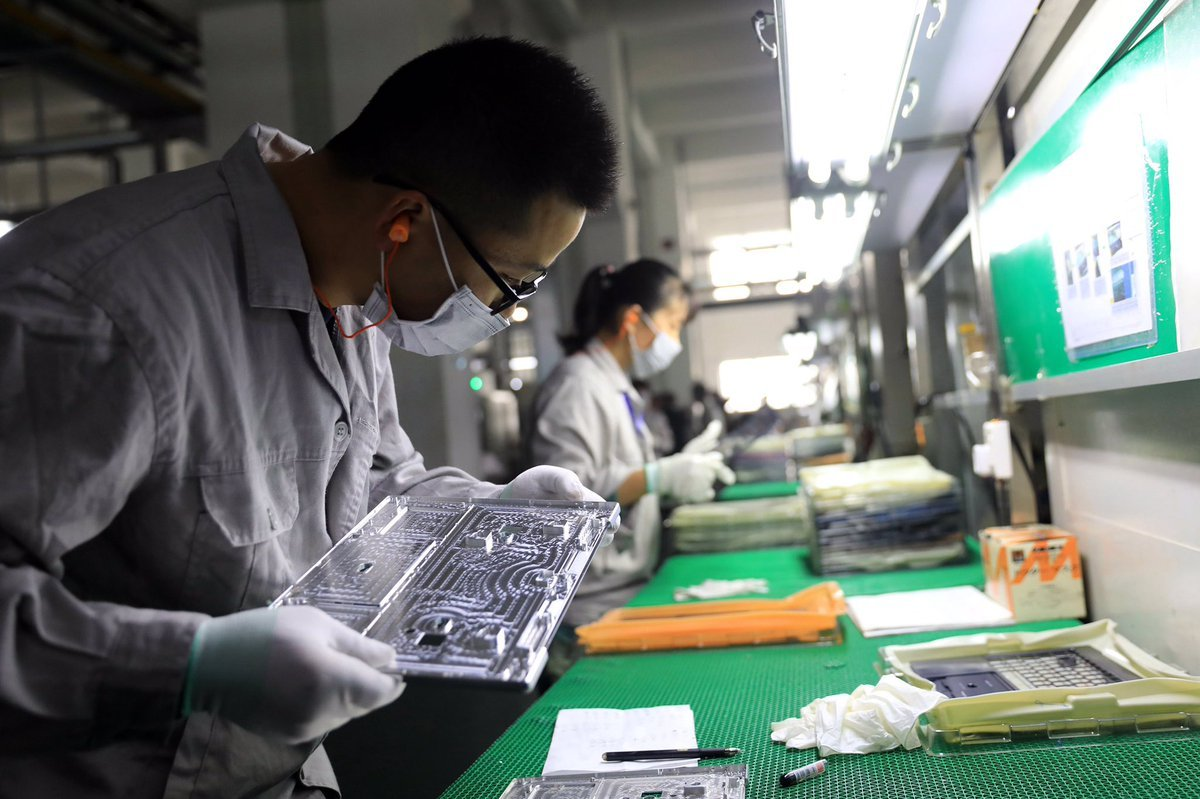 台灣和碩12日表示,董事會通過,將投資1.5億美元赴印度設立子公司,預計2021年投產。(STR/AFP via Getty Images)