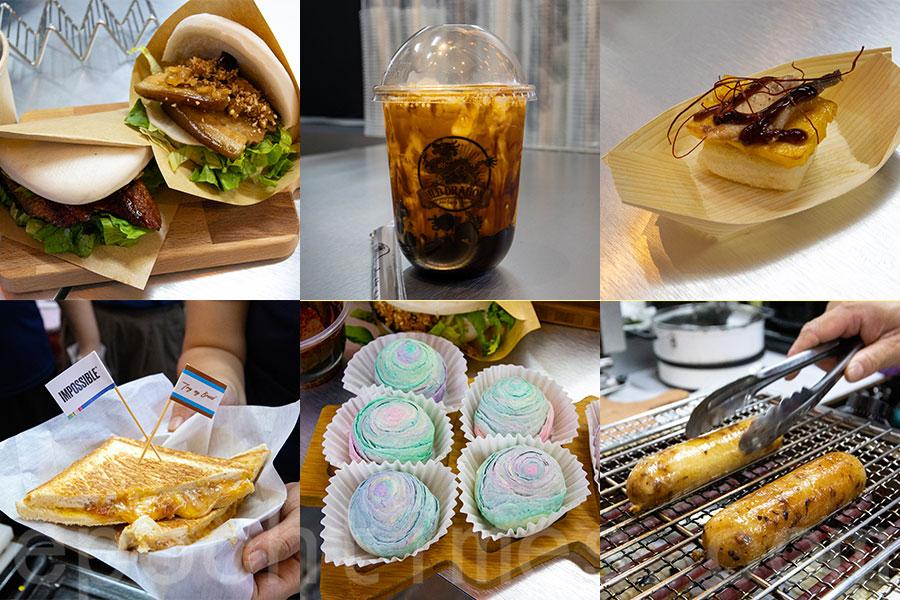 14間台式特色小食檔包羅百種美食,均為台灣地道或當地人氣美食。(陳仲明/大紀元)