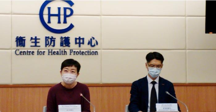 本港新增68宗中共病毒(武漢肺炎)確診個案,衛生防護中心傳染病處主任張竹君(左)指現時的確診數字「升得好快」,尤其是「跳舞群組」。(貝蒂/大紀元)