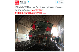 法國火車撞樹後損毀 至少60傷
