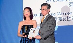 楊千嬅獲「2016亞洲女性傑出獎」感謝家人支持