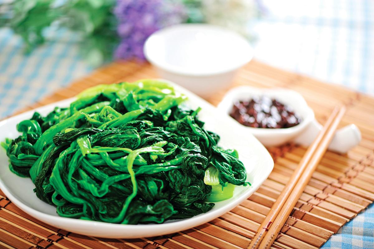 菠菜的維他命A與葉酸含量最突出。