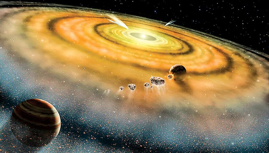 太陽系在20萬年內迅速形成