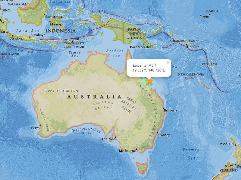 澳洲東北發生5.7級地震 規模20年來最大
