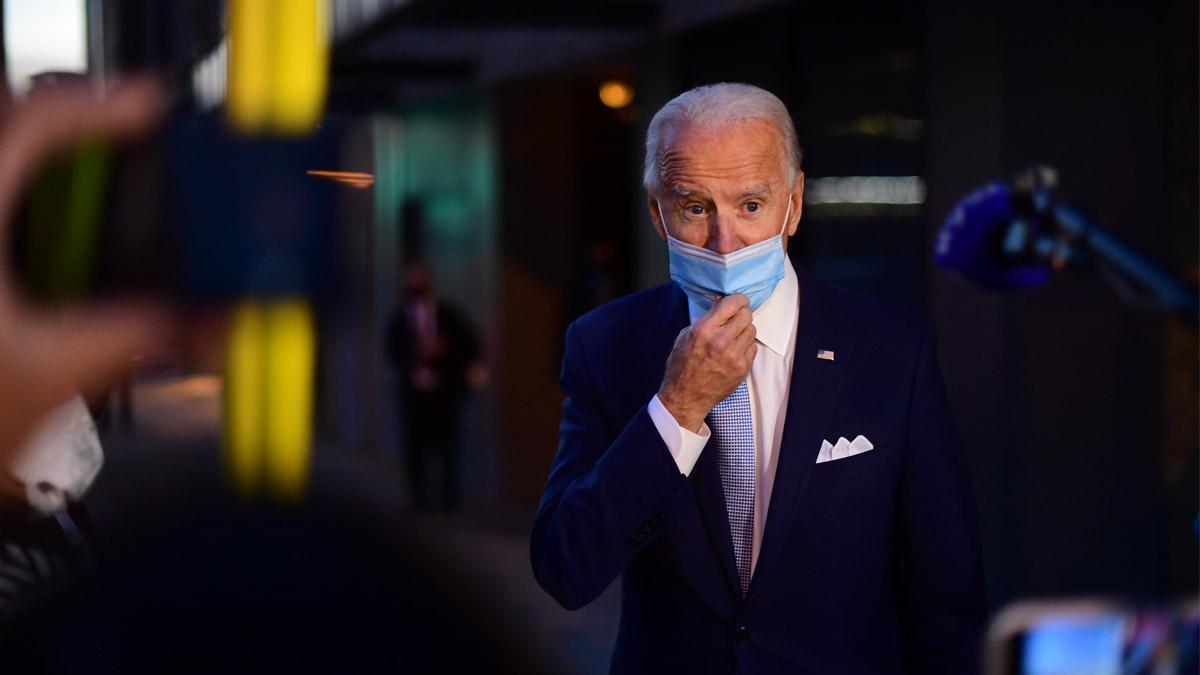 圖為民主黨候選人拜登(Joe Biden)。(Mark Makela/Getty Images)