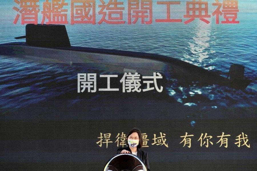 台自製潛艇啓動 美在台協會處長酈英傑親臨現場