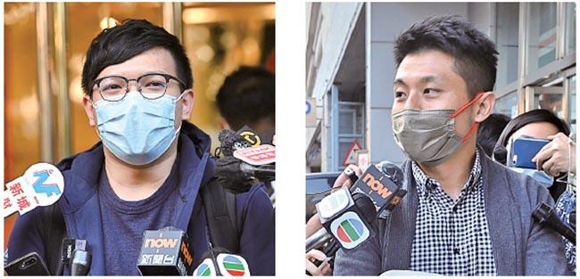 新聞刺針記者丘庭亮(左)、新聞刺針記者楊量傑。(宋碧龍/大紀元)