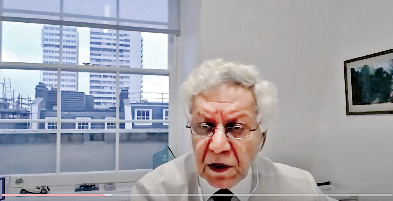 英國獨立「人民法庭」顧問、資深律師薩比(Hamid Sabi)。(視頻截圖)