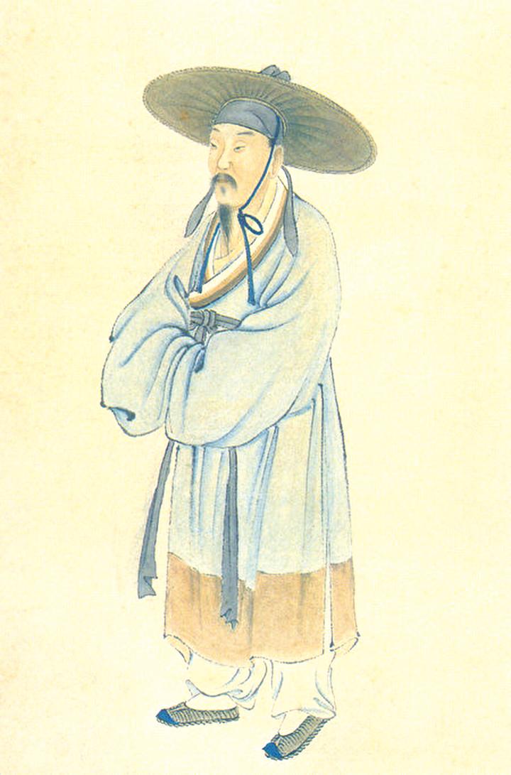 清人繪畫《陸游畫像》(Adece033090/Wikimedia commons)