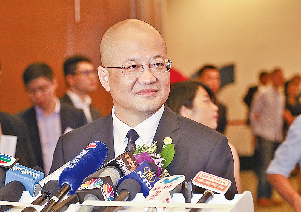 光大證券總裁薛峰表示,去年集團收購新鴻基集團七成股權,今又來港以H股上市,均乃其邁向國際化的舉措。(余鋼/大紀元)