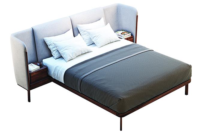 床頭板也可以具有邊桌功能。