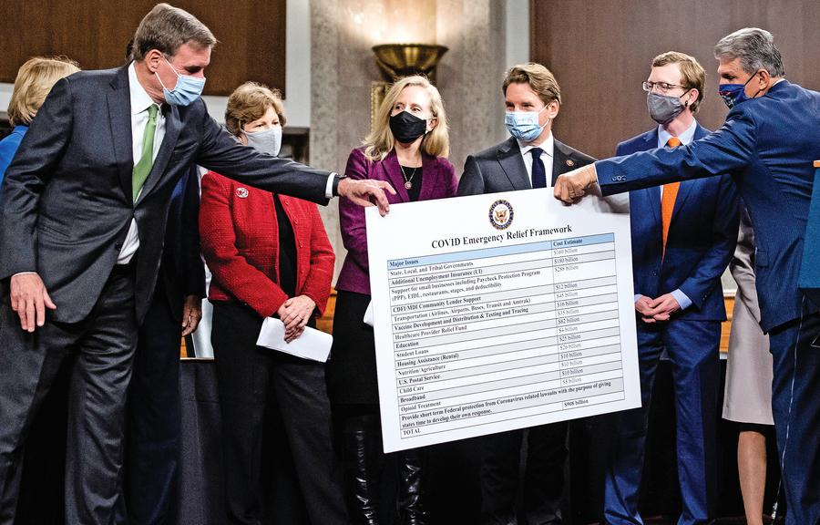 美國會兩黨小組提經濟刺激法案 規模九千億