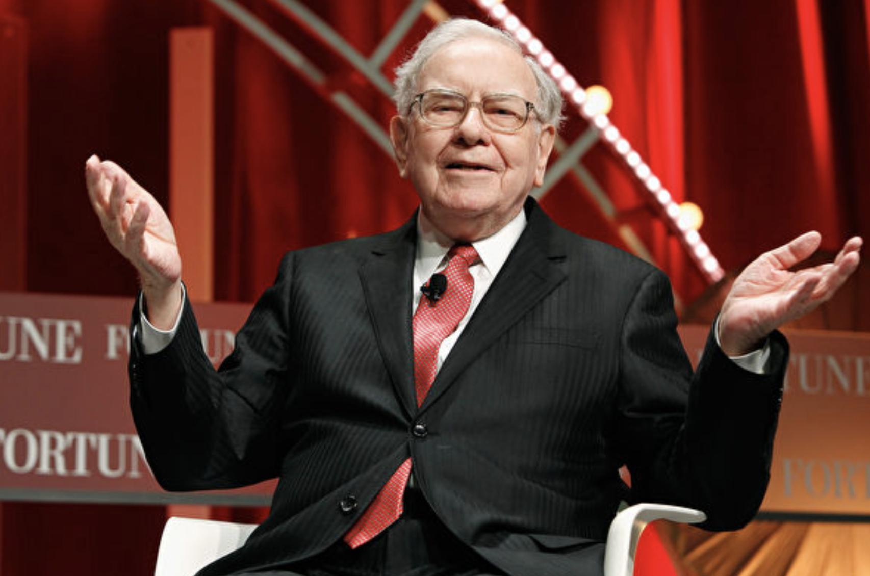 美國著名投資家、企業家畢菲特資料照。(Paul Morigi/Getty Images)