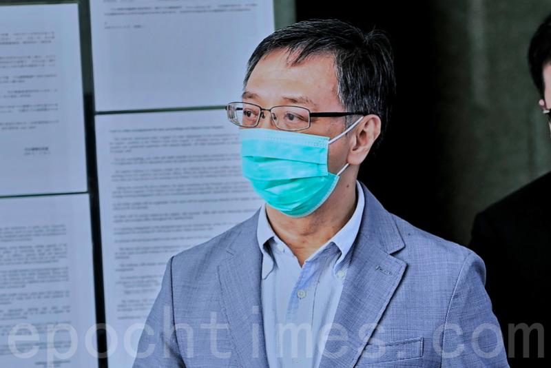 壹傳媒營運總裁周達權獲准保釋,離開西九龍法院。(宋碧龍/大紀元)