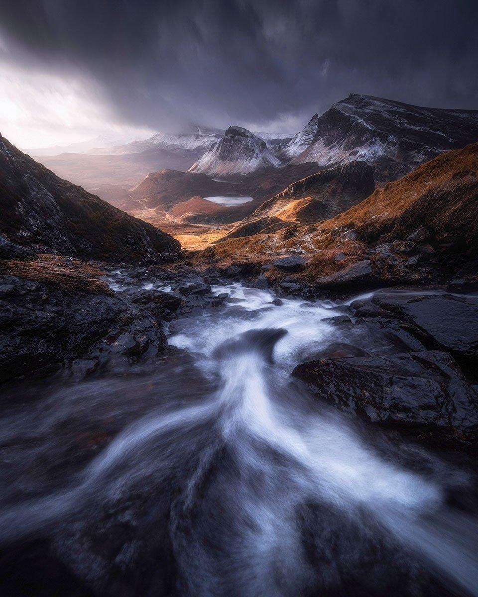 在低溫下以低角度水流拍攝的獲獎作品「Flow」。(受訪者提供)