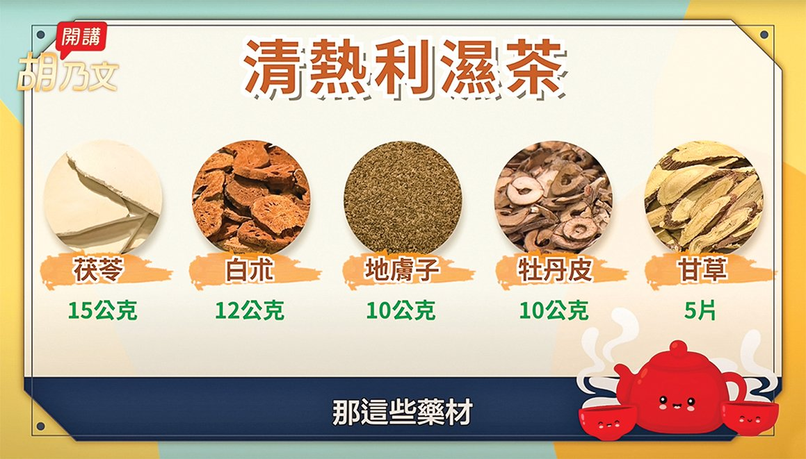 濕疹皮膚可以嘗試喝清熱利濕茶。(胡乃文開講)