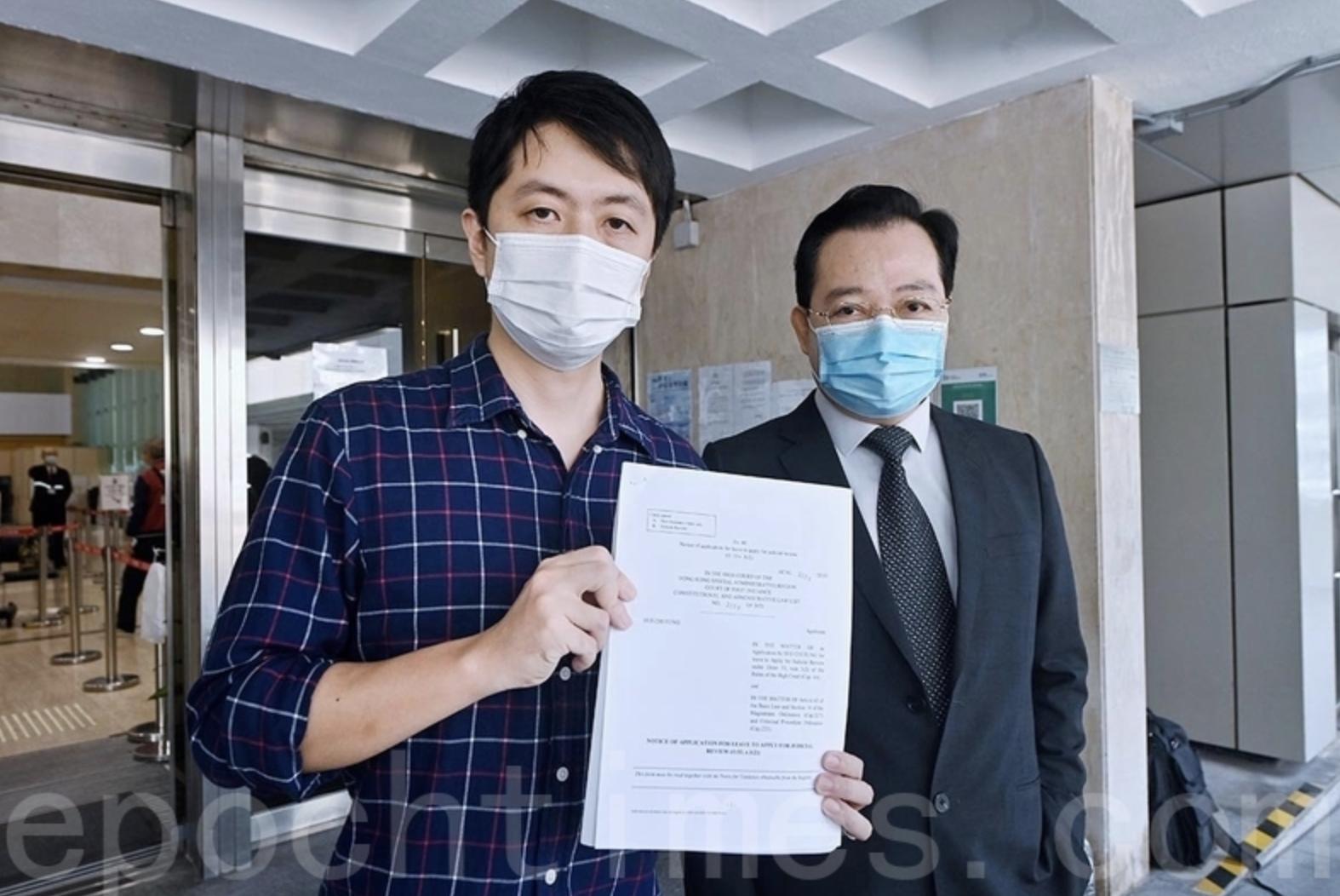 許智峯(左)宣佈退黨流亡海外 (大紀元資料圖片)