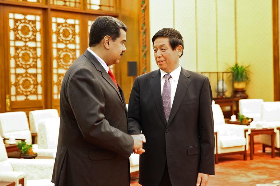 委內瑞拉總統馬杜羅於2018年9月到訪中國,尋求中共援助,欲解決該國的經濟危機。(MARCELO GARCIA/AFP via Getty Images)