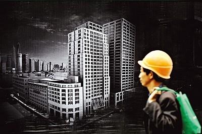 大型房地產開發商負債纍纍,掙扎求存,資金鏈的斷裂或引發多米諾骨牌效應,導致中共金融危機。圖為:大陸房地產一景。(AFP)