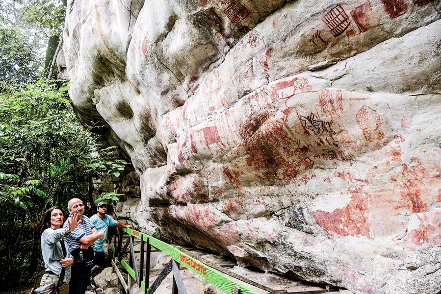 距今超萬年巨型史前岩畫 驚現亞馬遜雨林