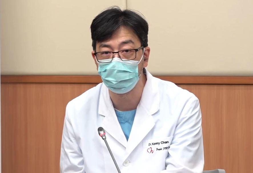 香港醫管局深切治療科統籌委員會成員陳勁松。(視頻截圖)