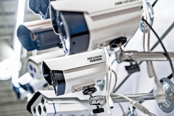 海康威視股票將被剔除出富時羅素指數。圖為海康威視生產的監視器。(Getty Images)