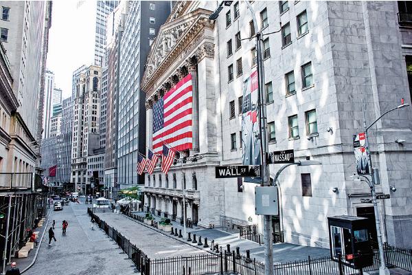 紐約證券交易所(NYSE)外觀。(Getty Images)