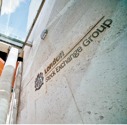 倫敦證券交易所。(Getty Images)