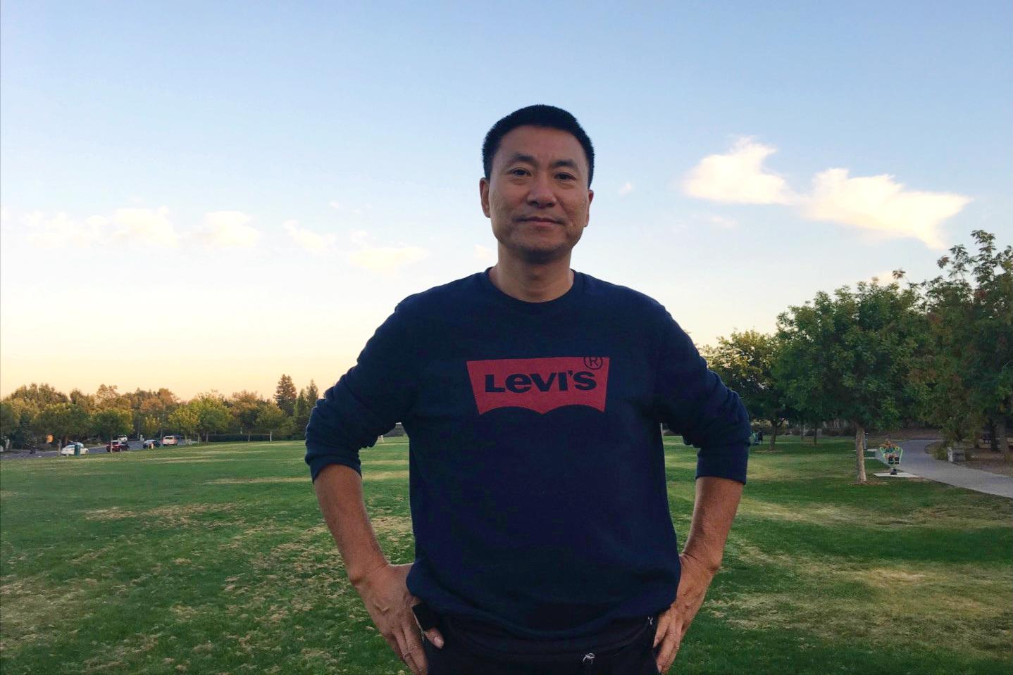 2018年9月18日,劉小輝先生在美國加州戴維斯Arroyo park公園。(受訪者提供)