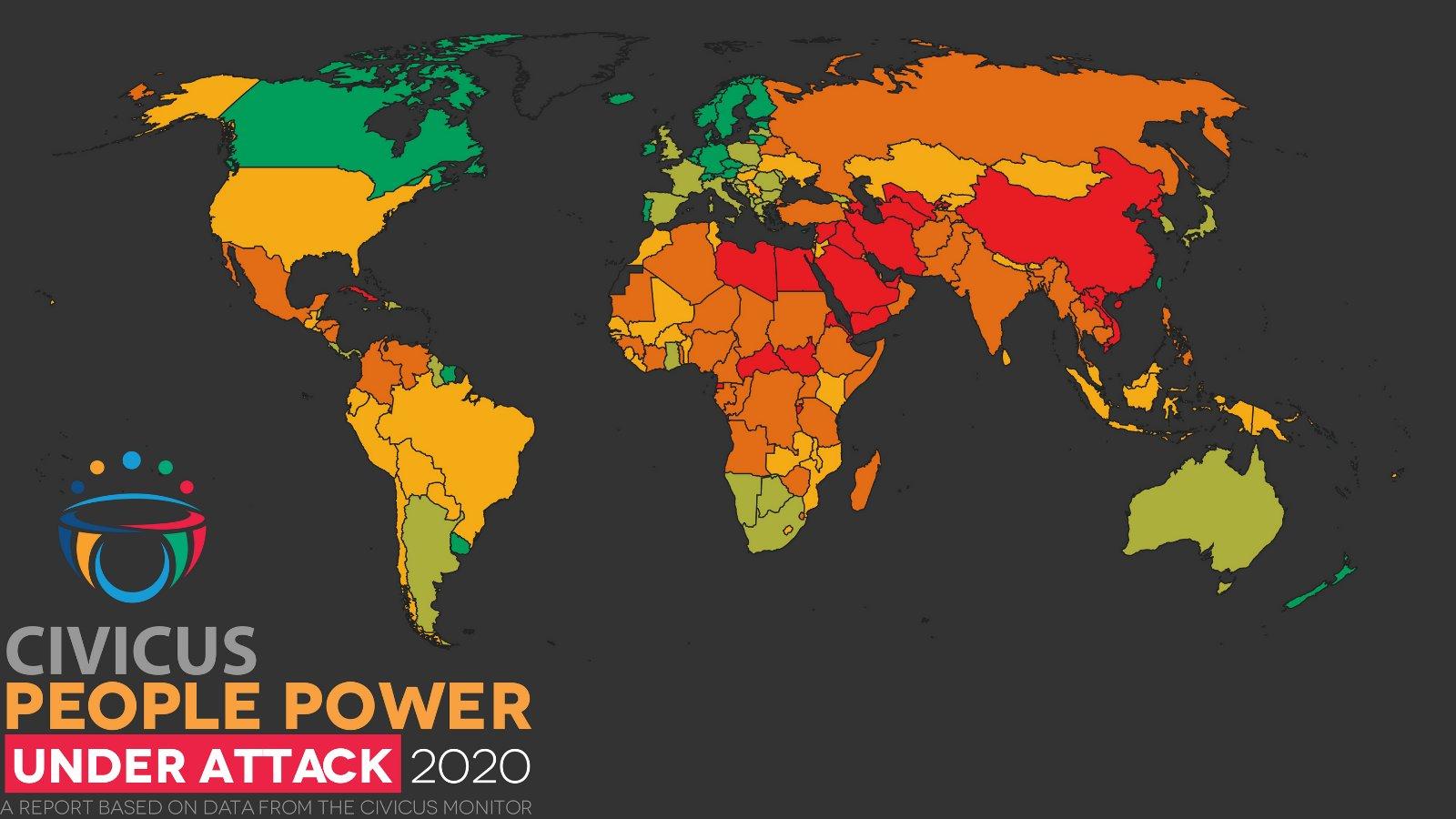 全球公民活動空間報告圖片(來自報告原文插圖)