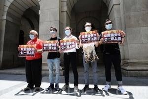 陳皓桓胡志偉等八人 涉七一遊行被捕