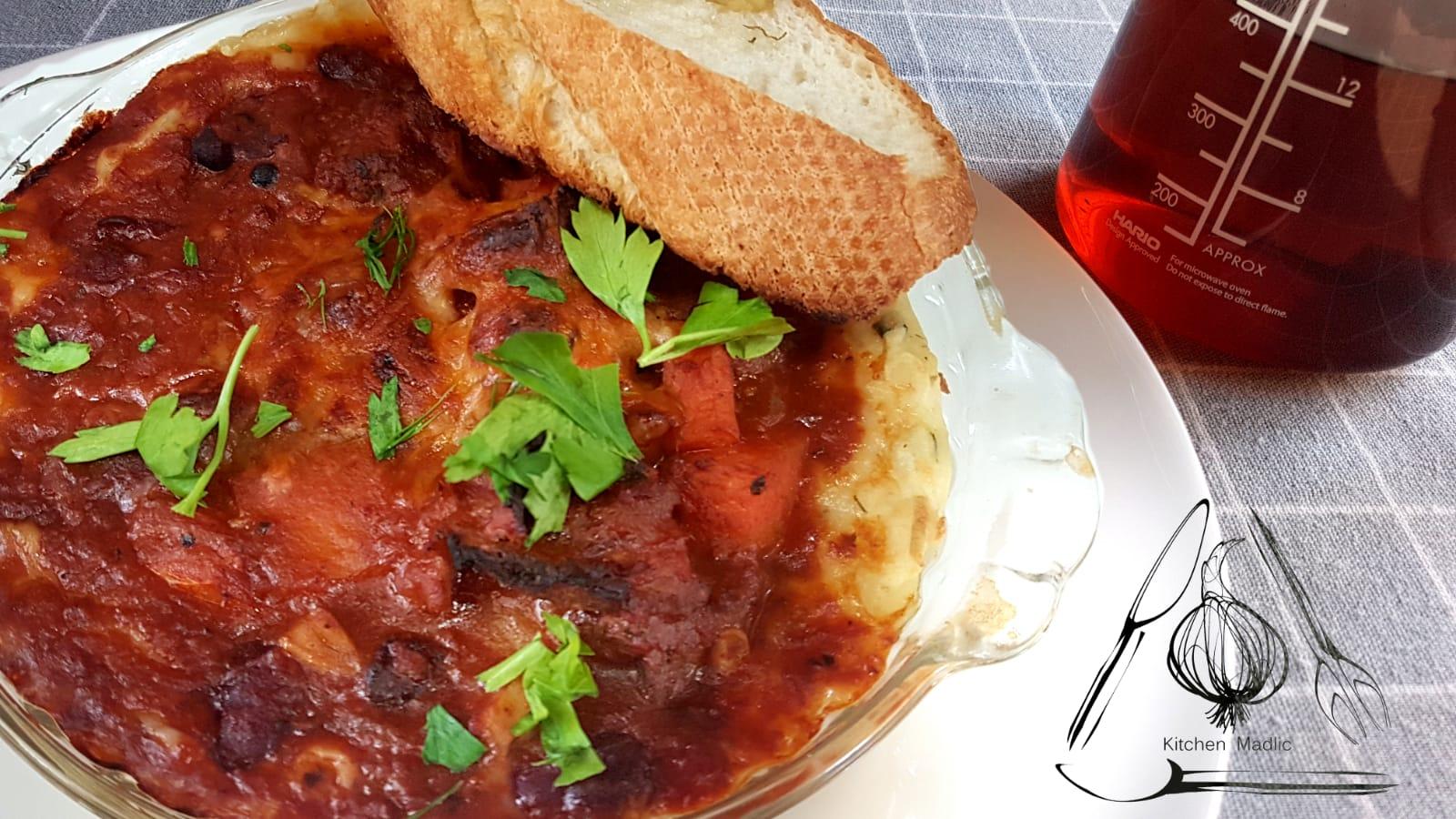紅酒蔬菜燴牛肉薯蓉。(Kitchen Madlic提供)