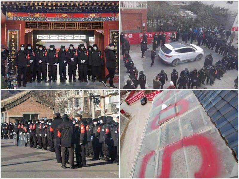 北京昌平香堂文化新村三千多戶近萬人被要求7日內強行搬遷,否則房被強拆,人也要上失信黑名單。(受訪者提供,大紀元合成)
