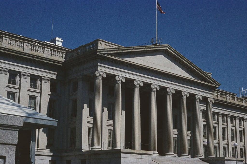 美國財政部大樓。(Archive Photos/Getty Images)