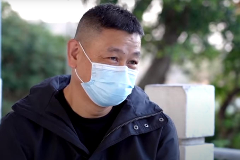 前有線電視中國組資深記者林建誠表示香港新聞自由不復存在,是香港人的損失,也是港府和北京的損失。「(大紀元採訪截圖)