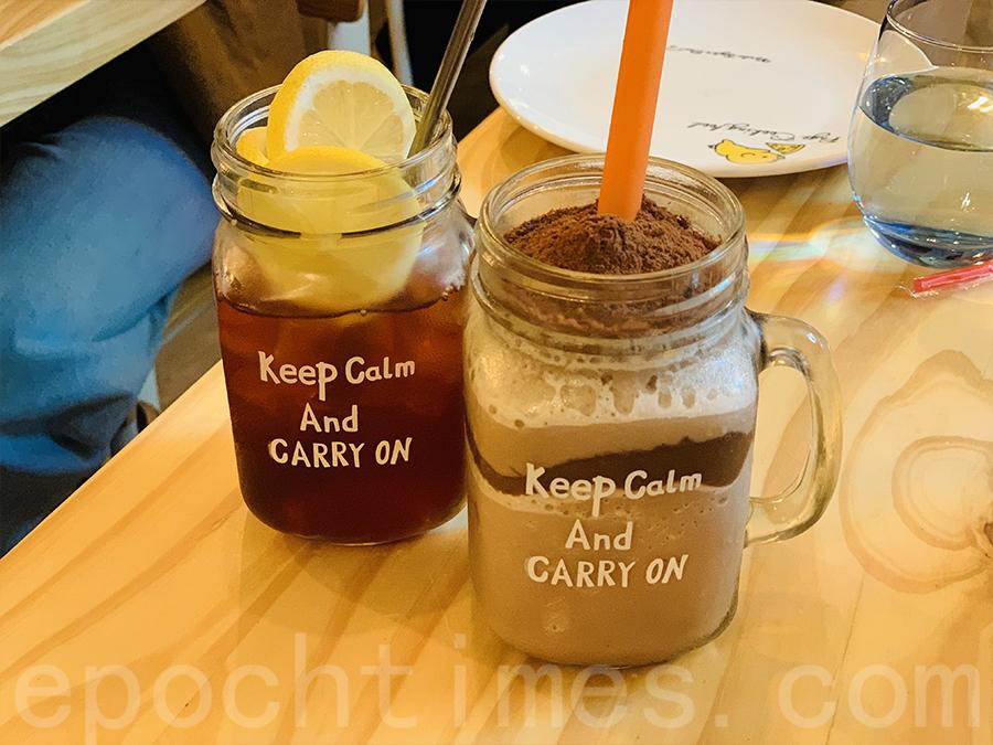 美祿恐龍沙冰和凍檸檬茶。(Siu Shan提供)