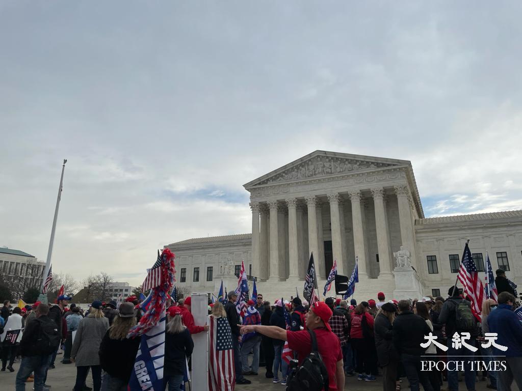 12月12日, 美國民眾再次發起大型遊行集會,並齊聲高呼「STOP THE STEAL!」 (吳芮芮/大紀元)