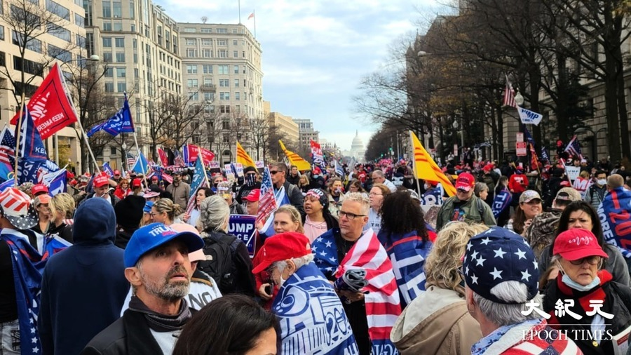 【圖片新聞】美民眾遊行集會挺特朗普 高呼愛中國恨中共