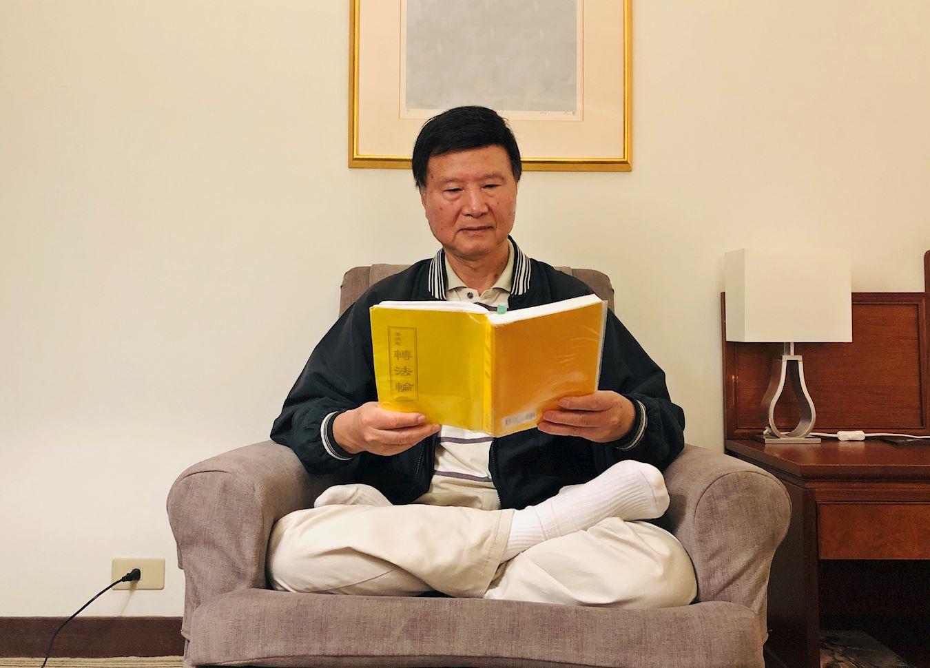 徐文海感慨於李洪志師父的每一句法理,打從心底覺得做人就是應該按「真、善、忍」作為指導。(明慧網)