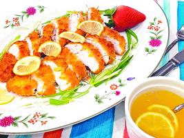 【梁廚美食】檸檬汁煎烤 有機雞胸塊