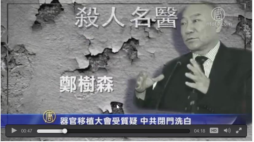 鄭樹森是中共「器官移植大戶」。(新唐人視像擷圖)