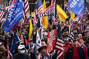 華府大型「挺特」集會 民眾支持「END CCP」