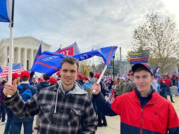 維珍尼亞Francisco Whittaker(左):大紀元堅守真實的報道,是偉大的工作。(李桂秀/大紀元)