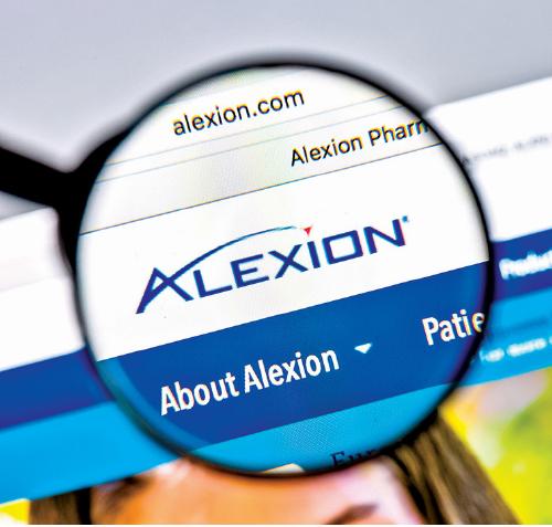 美國亞力兄(Alexion Pharmaceuticals)製藥公司的網站。(Shutterstock)