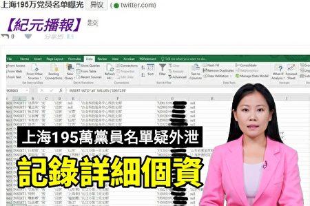 配合川普制裁,上海市全體黨員內部機密曝光被指內部人讓中共黨員不能入境美國(視像截圖)