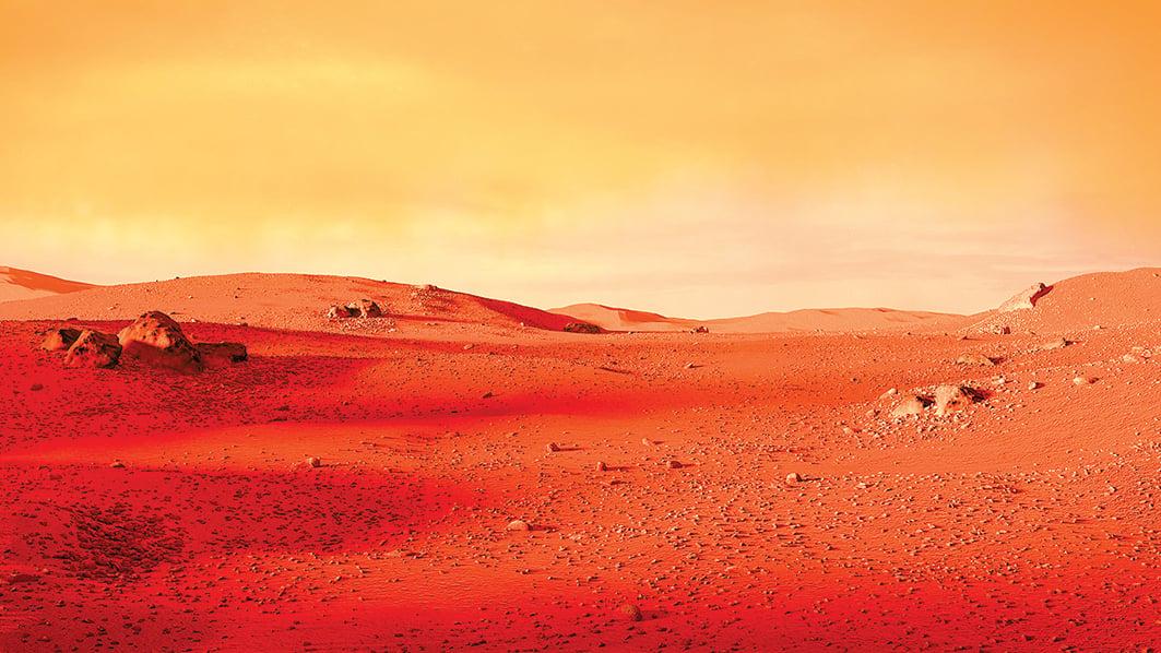 火星表面示意圖。(Shutter Stock)