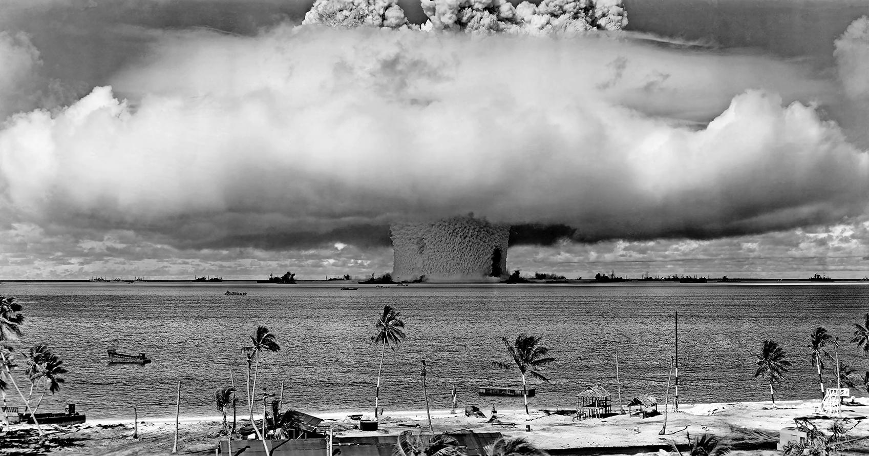太平洋地區的核試驗成為綠色和平運動的目標。(公有領域)