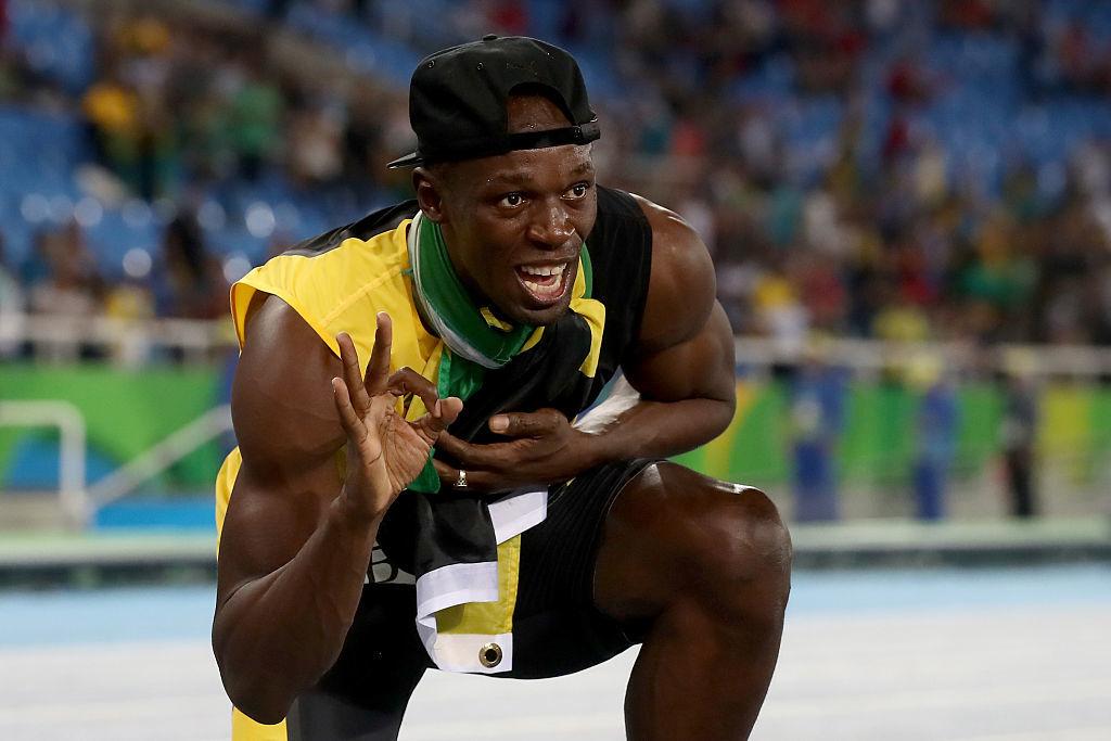 「牙買加閃電」(Usain Bolt)成功在100米、200米及4X100米接力,3個短跑項目都達成3連霸。( Alexander Hassenstein/Getty Images)