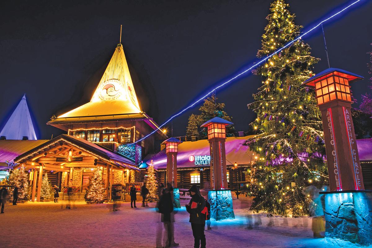 溫馨的聖誕老人村。
